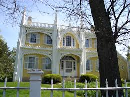 great gingerbread or wedding cake house kennebunk maine shabby