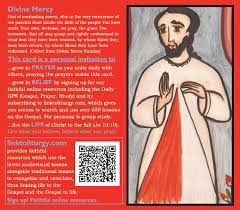 jesus mercy card 25 cards link to liturgy