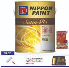 nippon paint satin glo 5l 11street malaysia paints u0026 accessories