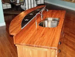 custom wood countertop options marble granite and wood inserts