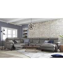 pirello 2 pc power reclining leather sofa with power headrests