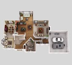 Floor Plan Software 3d 25 More 3 Bedroom 3d Floor Plans Home Plan Design Small Luxihome