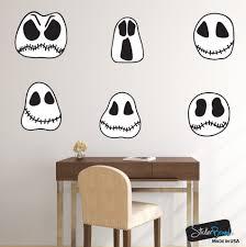 halloween ghost skulls wall decal sticker decoration set of 6 6099