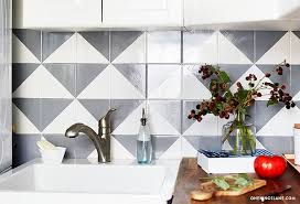 Painted Tile Backsplash DIY One Kings Lane Style Blog - Tile backsplash diy
