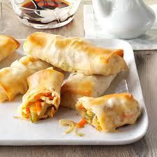 baked egg rolls recipe taste of home