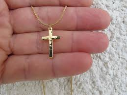 gold plated cross necklace images Gold cross necklace hammered high quality gold by olivelijewelry jpg