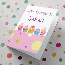 happy birthday muffins personalised card gettingpersonal co uk