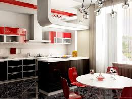 Paint Color For Kitchen Kitchen White Red And Black Matching Kitchen Color Red Cabinet
