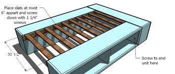 Queen Platform Bed With Storage Plans by Ana White Full Storage Captains Bed Diy Projects