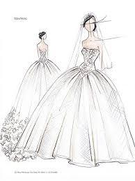 kim kardashians wedding private dress sketches by vera wang
