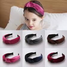 decorative headbands new fashion party decorative solid velvet hairband kids baby