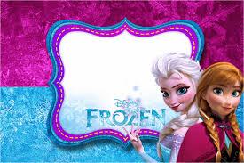 frozen birthday invitation templates for girls with garden themed