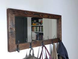wall mirror vintage wood ethan allen wall mirror coat rack with