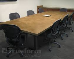 12 ft conference table concrete tables 12 foot conference room table concrete
