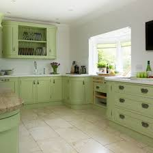 Green Country Kitchen Dining Room Designs Green Kitchen With White Cabinets
