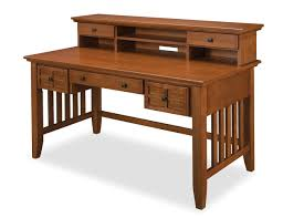 home styles arts and crafts cottage oak executive desk with hutch