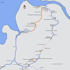 map of germany showing rivers oste river and oste hamme canal hamme and lesum rivers germany