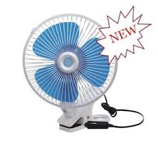 6 inch oscillating fan brand new car van interior oscillating 12 volt 6 180mm metal big