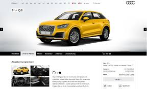 audi configurater colorful audi q2 configurator launched in germany only 1 4 tfsi