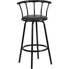 Red Bar Stools Target Flash Furniture Crown Back Black Metal Bar Stool With Black Vinyl