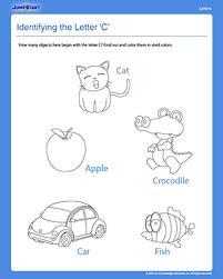 identifying the letter u0027c u0027 u2013 easy reading worksheets for preschool