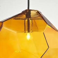 Orange Pendant Light Cube In Blue Orange Grey Novel Pendant Light