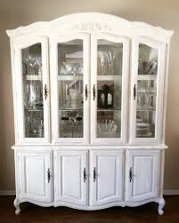 corner china cabinet hutch together with french provincial or 1970