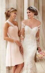 brautkleid mit spitze ã rmel brautkleid mit illusion spitze ärmel stella york wedding dresses