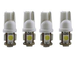 which light bulb is the brightest 4pcs 194 168 led bulb 5050 brightest t10 12v 5smd led bulbs wide