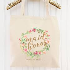 bridal party tote bags millie bridal party tote bag custom gift for of honor
