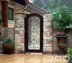 Garage Gate Design Mediterranean Garage Doors With Matching Wood Wrought Iron