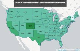 map of colorado by population born in colorado make up less than half of the state s