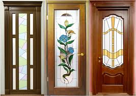 stained glass door windows solid wood door with glass