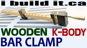 how to make a wooden bar clamp free plans youtube