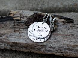 bible verse jewelry you are loved necklace romans 8 37 arrow necklace bible verse