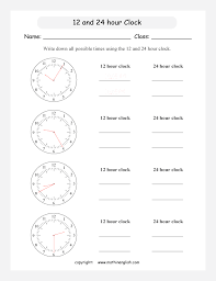 math time worksheet for grade 4 and 5 students based on the 12 and