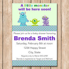 inc baby shower ideas monsters inc baby shower invitations as prepossessing