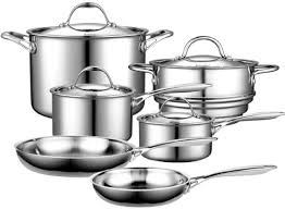 best black friday deals on pots and pans amazon com cooks standard multi ply clad stainless steel 10 piece