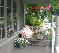 toronto drop down porch shabby chic style with open gray watering