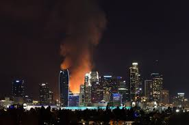 Fire In Los Angeles Today Map by Los Angeles Fire 250 Firefighters At Scene Harbor Freeway Closed