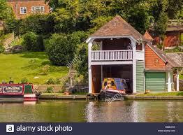 Boat House Boathouse Goring On Thames Uk Stock Photo Royalty Free Image