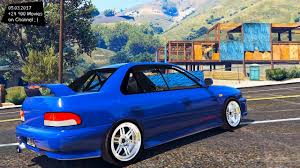 subaru gc8 widebody subaru gt gc8 jdm 1 1 gta v 2160p 4k enb 60fps youtube