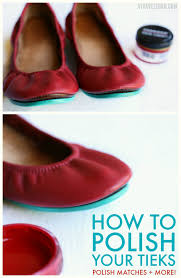 how to polish your tieks leather ballet flats color matches and
