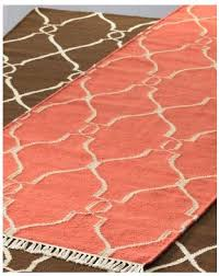 Coral Color Bathroom Rugs Bogart Dhurrie Rug In Coral Find It At Garnet Hill Coral Craze