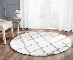 Classic Accessories Veranda Round Square - white u0026 silver shag rug safavieh com
