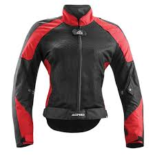 vented motorcycle jacket acerbis ramsey my vented woman summer jacket black red