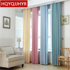 voilage pour cuisine moderne moderne plaine solide couleur blackout rideaux pour salon voilages