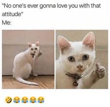 Why You No Love Me Meme - no one s ever gonna love you with that attitude me
