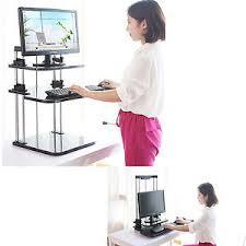 ergonomic height adjustable standing desk computer sit stand up