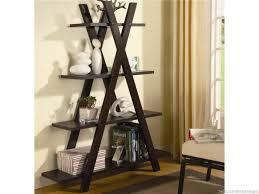 furniture ladder shelves at lowes black ladder bookshelf modern
